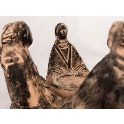 Mexico 4 Seated Women Copal Burner BLK