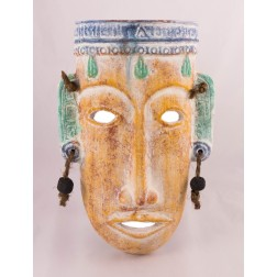 Mexico Mask & Earrings - 37x24cms