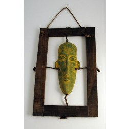 Mexico Mask Wood Frame 45x29cm