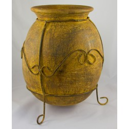 Mexico Rustic Pot & Stand - 40x32cm