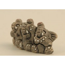 Ecuador Set of 3 Ceramic Elephants
