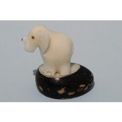 Ecuador Tagua Carved Animals - elephant