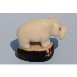 Ecuador Tagua Carved Animals - hippo